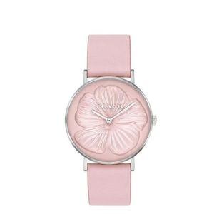 COACH PERRY Quartz Pink Tea Rose Leather Watch